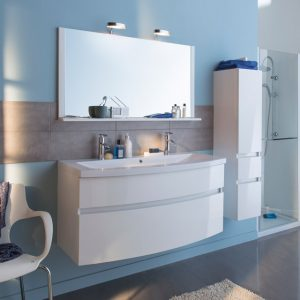 Armoire Salle De Bain Blanc Brillant