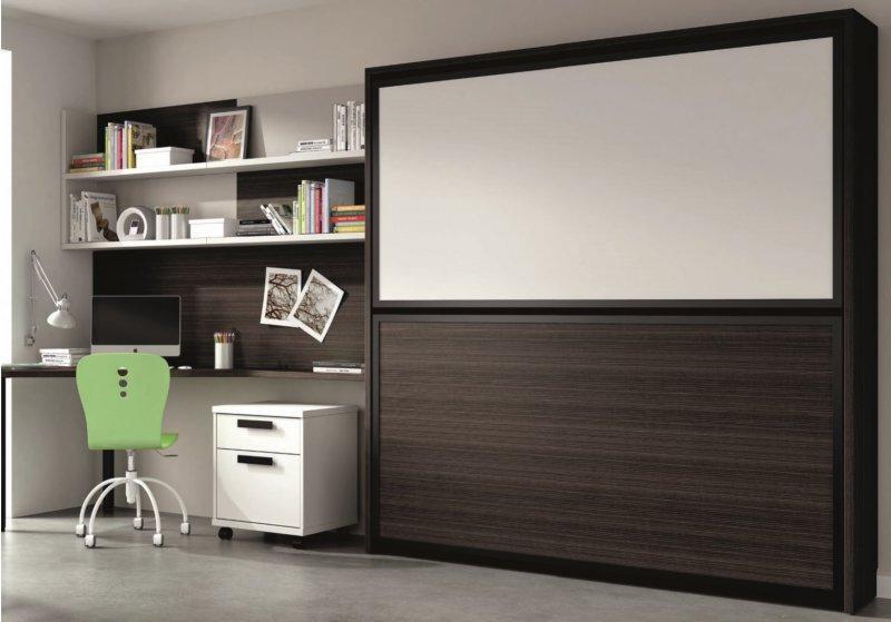 Lit escamotable bureau int gr armoire id es de for Lit escamotable bureau integre