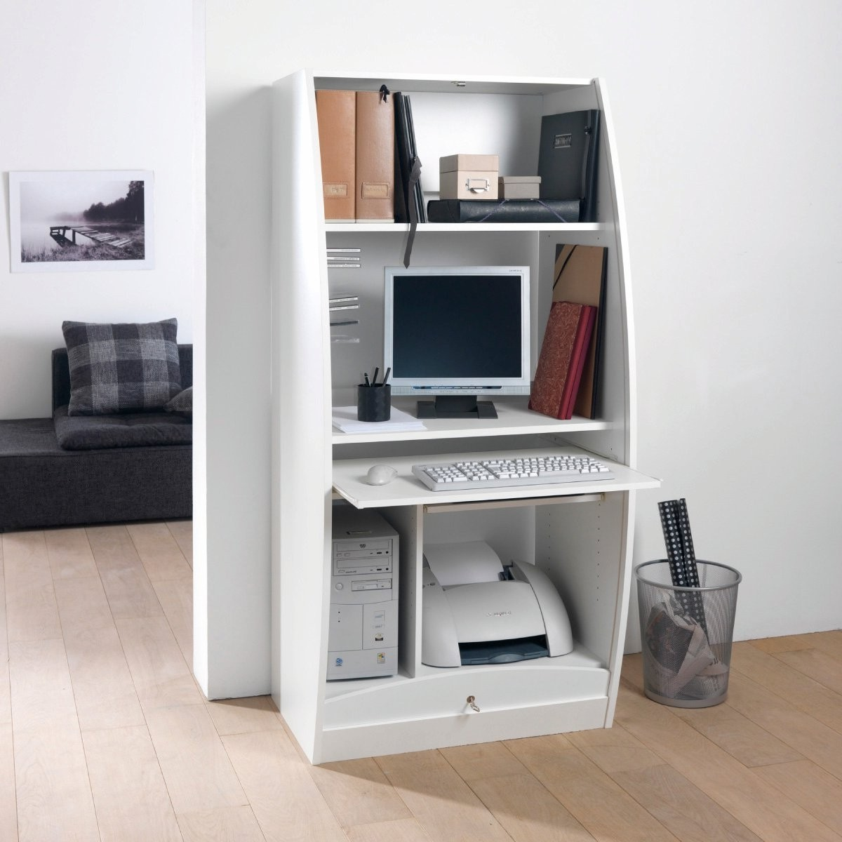 Meuble bureau armoire informatique armoire id es de for Meuble informatique ferme but