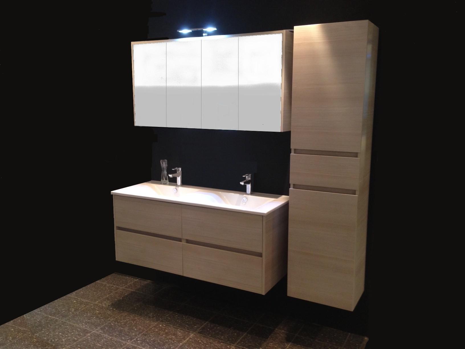 Meuble salle de bain avec armoire de toilette armoire for Meuble salle de bain armoire