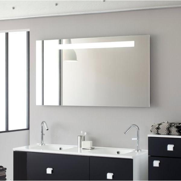 Meuble salle de bain avec miroir et eclairage armoire - Armoire salle de bain miroir eclairage ...