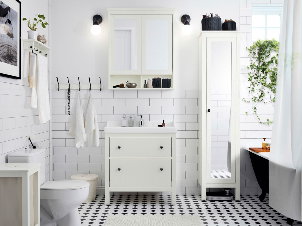 meuble salle de bain ikea bois armoire id es de. Black Bedroom Furniture Sets. Home Design Ideas