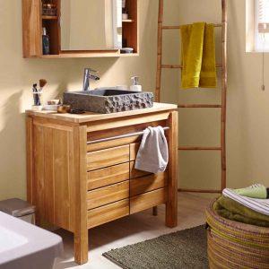 Meuble de rangement pour salle de bain but armoire for Petit meuble de rangement salle de bain