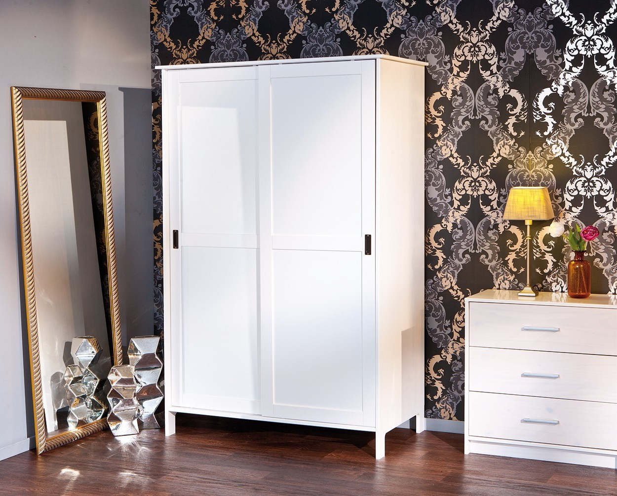 armoire blanche 2 porte coulissante armoire id es de. Black Bedroom Furniture Sets. Home Design Ideas