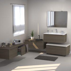 Carrelage salle de bains leroy merlin carrelage id es for Armoire salle de bain leroy merlin