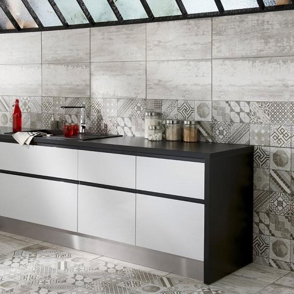 Carrelage cuisine mural blanc carrelage id es de for Carrelage mural cuisine blanc