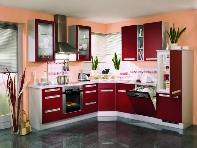 Carrelage Cuisine Rouge Et Noir