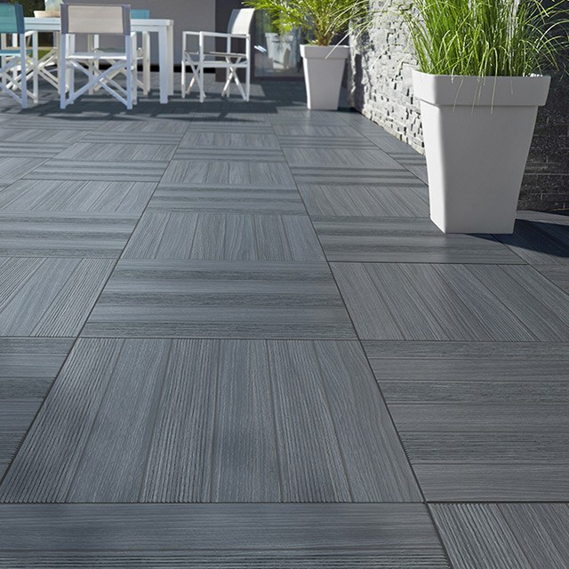 Carrelage exterieur gris effet bois carrelage id es de for Photo terrasse carrelage gris