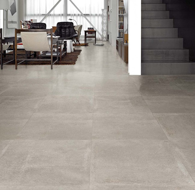 Carrelage grands carreaux gris carrelage id es de for Grand carreaux carrelage