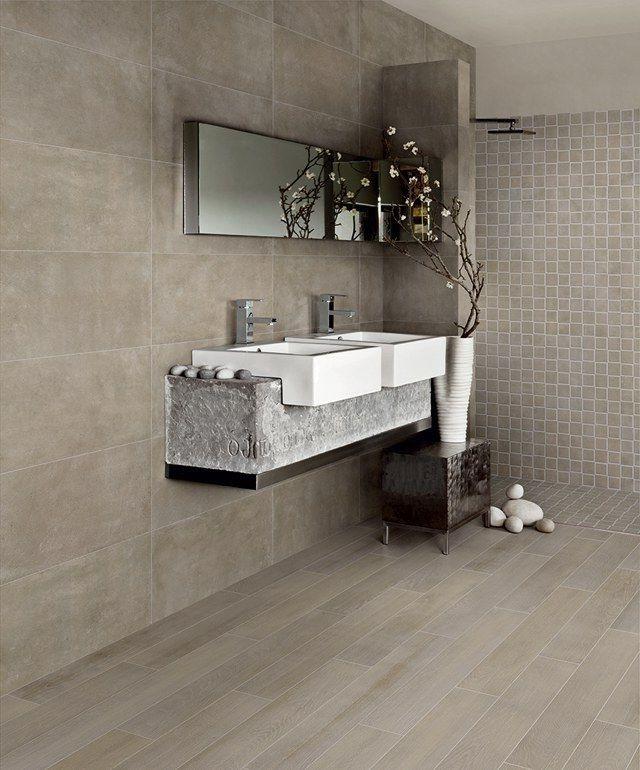 carrelage identique sol et mur salle de bain carrelage