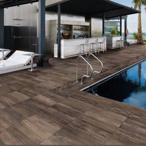Carrelage exterieur pour piscine imitation bois - Carrelage plage piscine imitation bois ...
