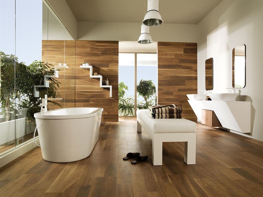 Carrelage imitation parquet blanc salle de bain for Salle de bain carrelage imitation parquet