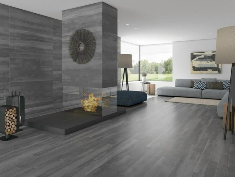 perfect carrelage imitation parquet gris salle de bain. Black Bedroom Furniture Sets. Home Design Ideas