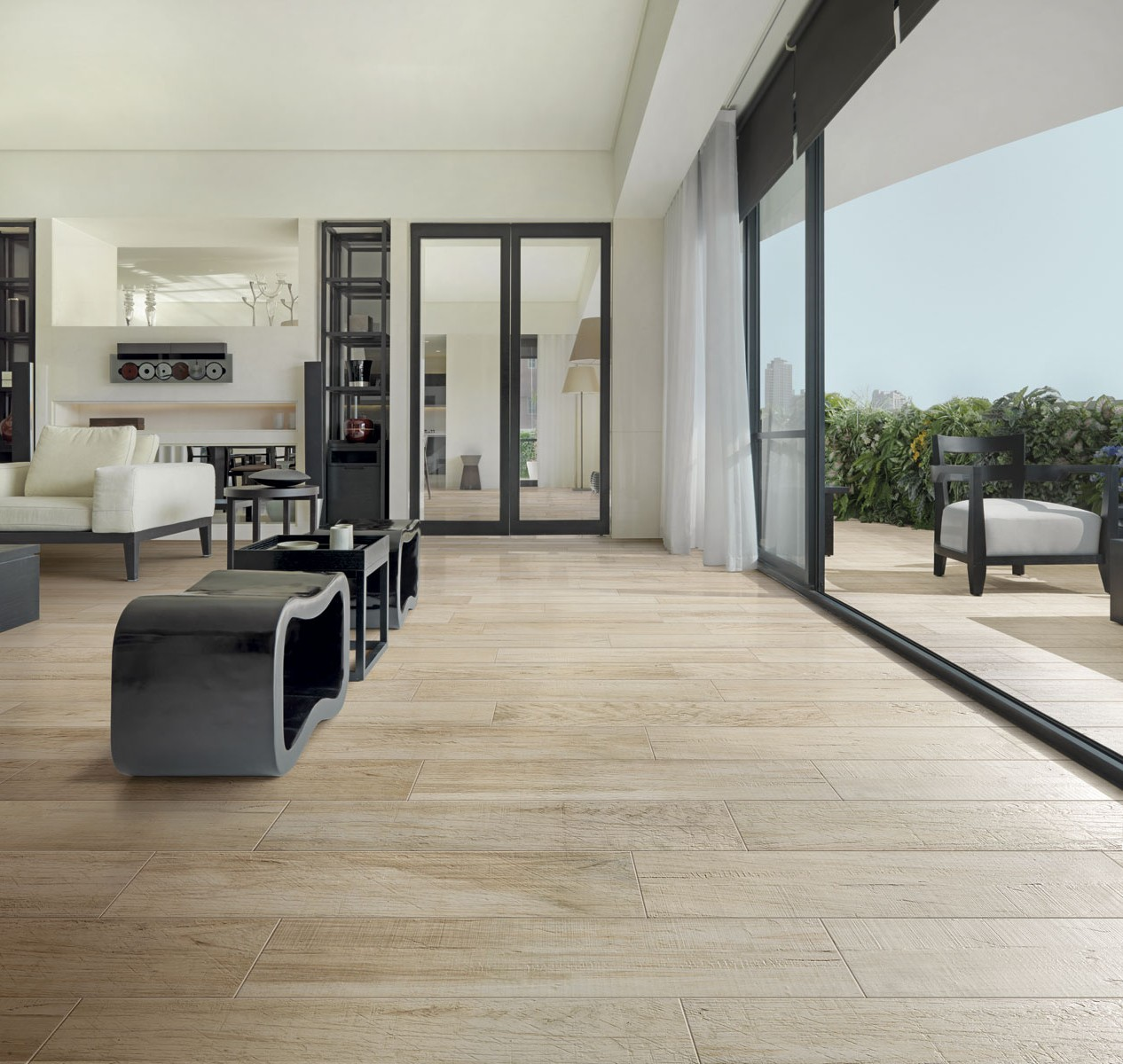 Carrelage imitation parquet interieur exterieur for Carrelage maison