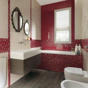 Carrelage Mosaique Rouge Et Blanc