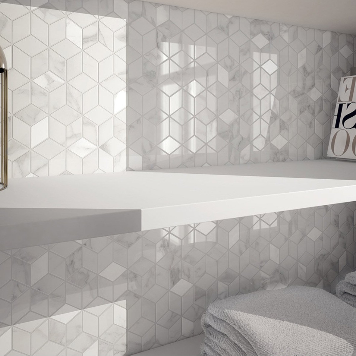 Carrelage Mural Mosaique Blanc