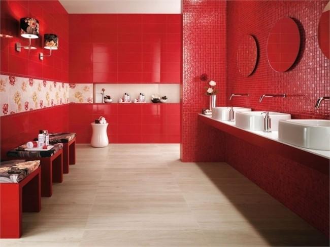Carrelage mural rouge pour cuisine carrelage id es de for Carrelage rouge cuisine