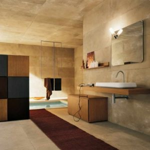 Tapis salle de bain grand format salle de bain id es for Grand carrelage mural salle de bain