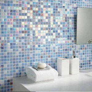 Carreaux pate de verre salle de bain carrelage id es for Pate de verre salle de bain