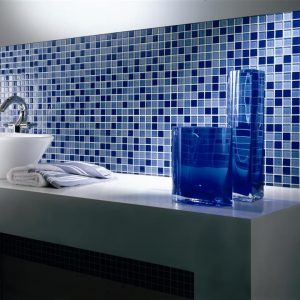 Cr dence verre salle de bain salle de bain id es de for Pate de verre salle de bain