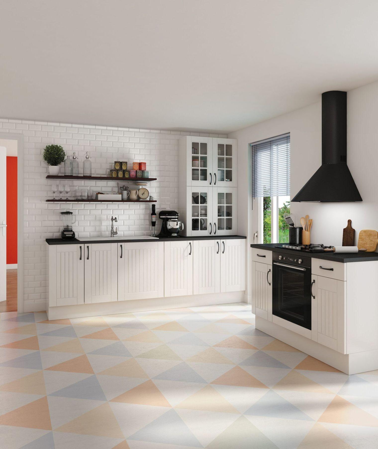Carrelage pour cuisine blanche carrelage id es de for Carrelage pour cuisine blanche