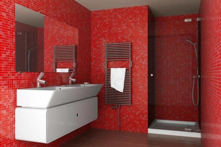 Carrelage Rouge Et Noir Salle De Bain