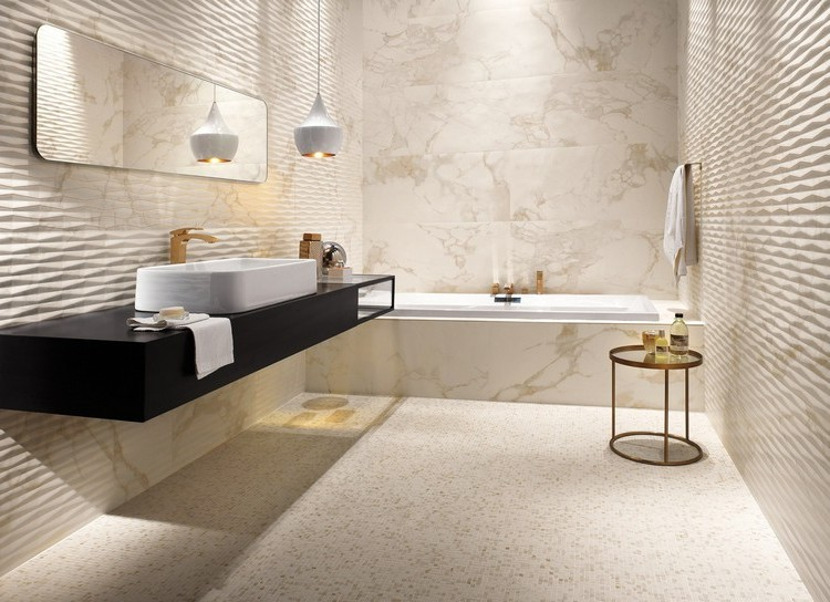 carrelage salle de bain aspect marbre carrelage id es. Black Bedroom Furniture Sets. Home Design Ideas