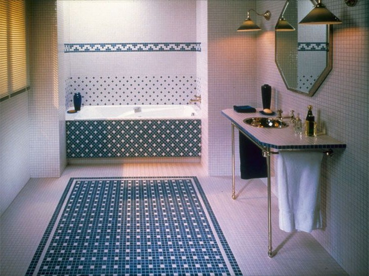 Carrelage Salle De Bain Mosaique Bleu