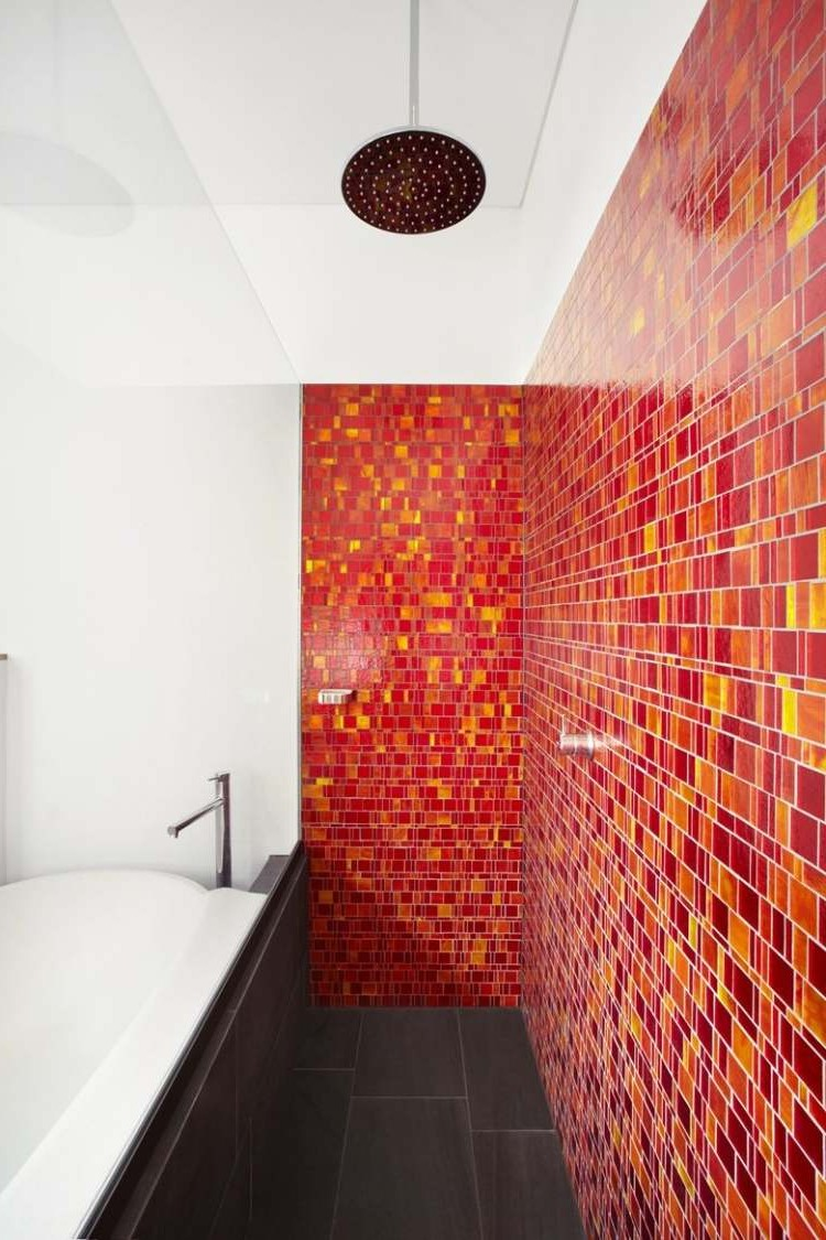 Carrelage Salle De Bain Mosaique Orange