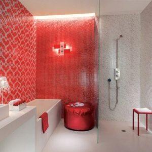 Salle De Bain Avec Carrelage Rouge - Carrelage : Idées de ...