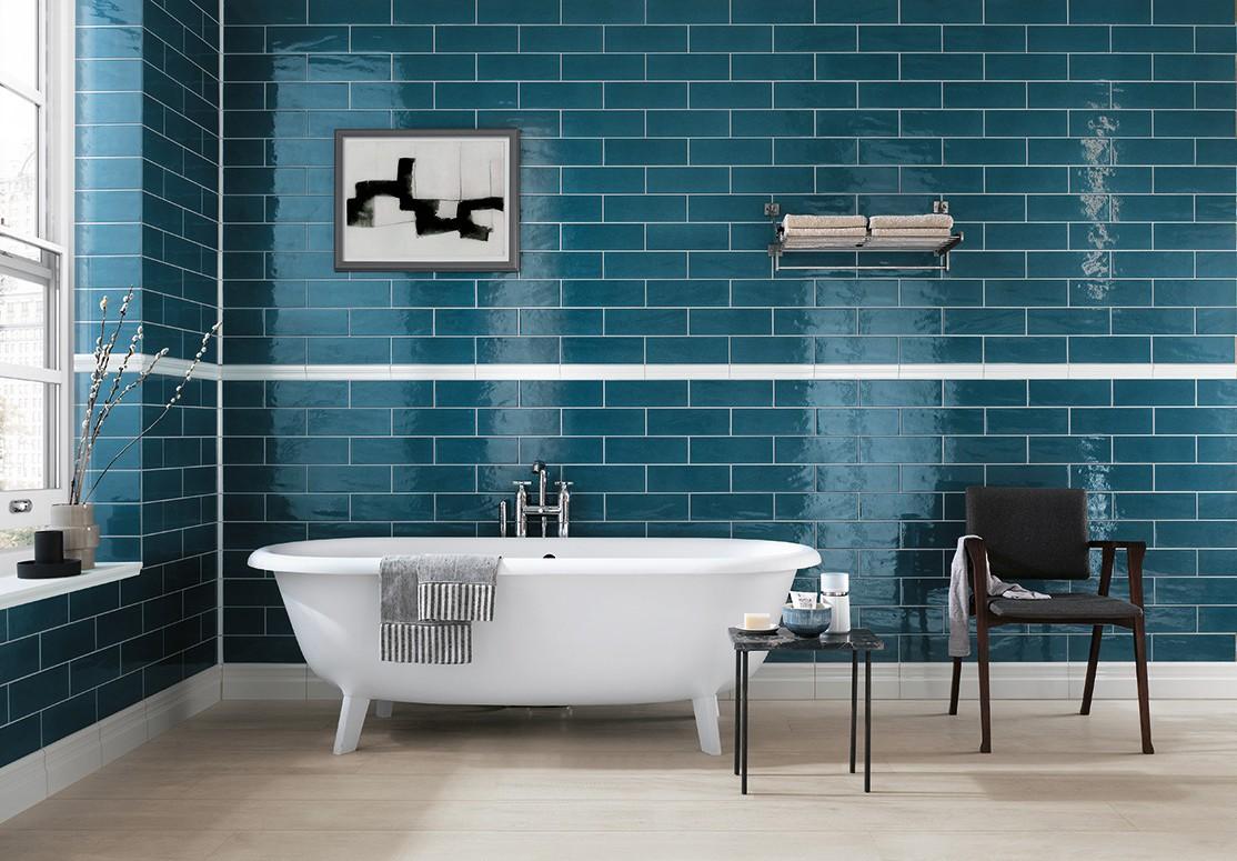 Carrelage salle de bain vert d 39 eau carrelage id es de for Idees deco salle de bain carrelage