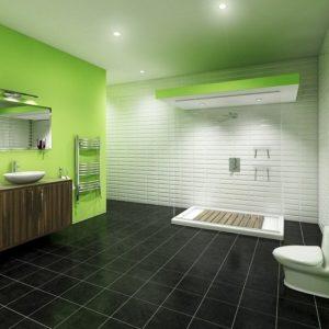 Carrelage Salle De Bain Vert Emeraude