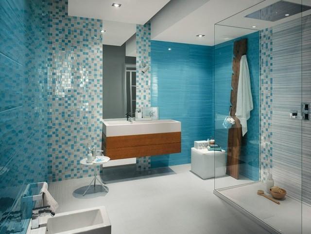 Carrelage salle de bain vert turquoise carrelage id es for Carrelage vert salle de bain