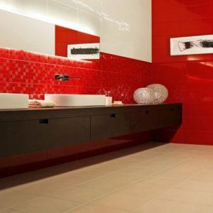Carrelage Metro Rouge Cuisine - Carrelage : Idées de Décoration de ...