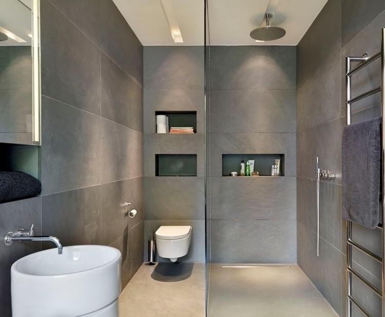 carrelage grand format pour petite salle de bain - carrelage ... - Faience Salle De Bain Grand Format
