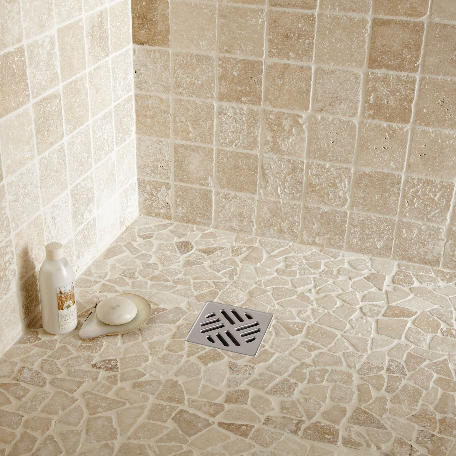 Beautiful travertin salle de bain leroy merlin photos for Carrelage leroy merlin