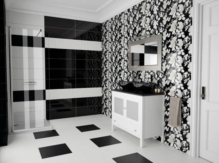 Deco Carrelage Salle De Bain Noir Et Blanc