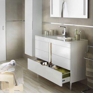 Meuble lavabo salle de bain retro salle de bain id es de d coration de ma - Meuble lavabo lapeyre ...