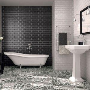 Modele carrelage salle de bain gris carrelage id es de for Modele salle de bain carrelage gris