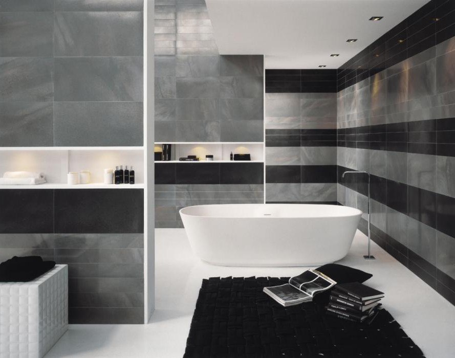 modele carrelage salle de bain noir et blanc carrelage. Black Bedroom Furniture Sets. Home Design Ideas