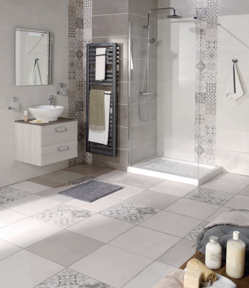 Salle de bain carrelage salle de bain point p moderne for Carrelage cuisine point p