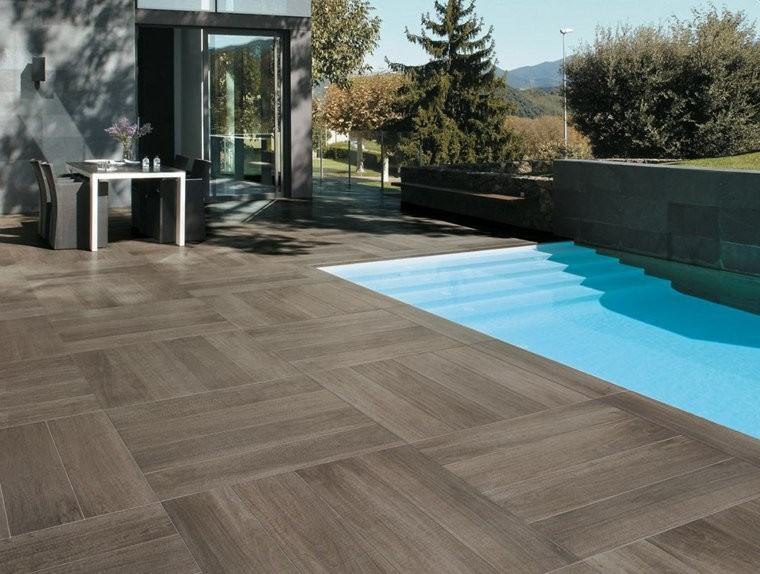 Awesome Cool Terrasse Piscine Carrelage Imitation Bois With Carrelage  Terrasse Aspect Bois With Carrelage Bord De Piscine.
