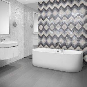 Emejing Mosaique Salle De Bain Gris Images - Awesome Interior Home ...