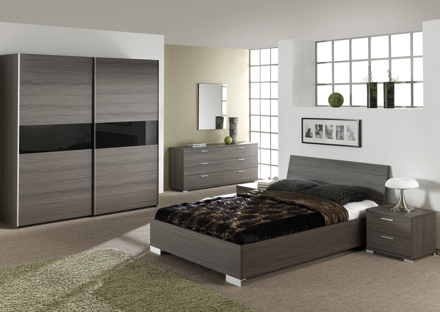 Chambre a coucher complete but affordable armoire with for Chambre adulte complete destockage