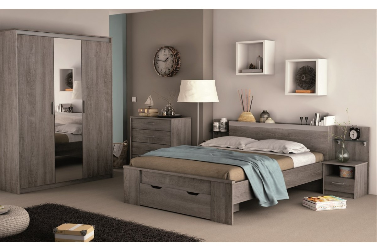 Chambre a coucher complete adulte conforama with conforama for Meuble chambre complete