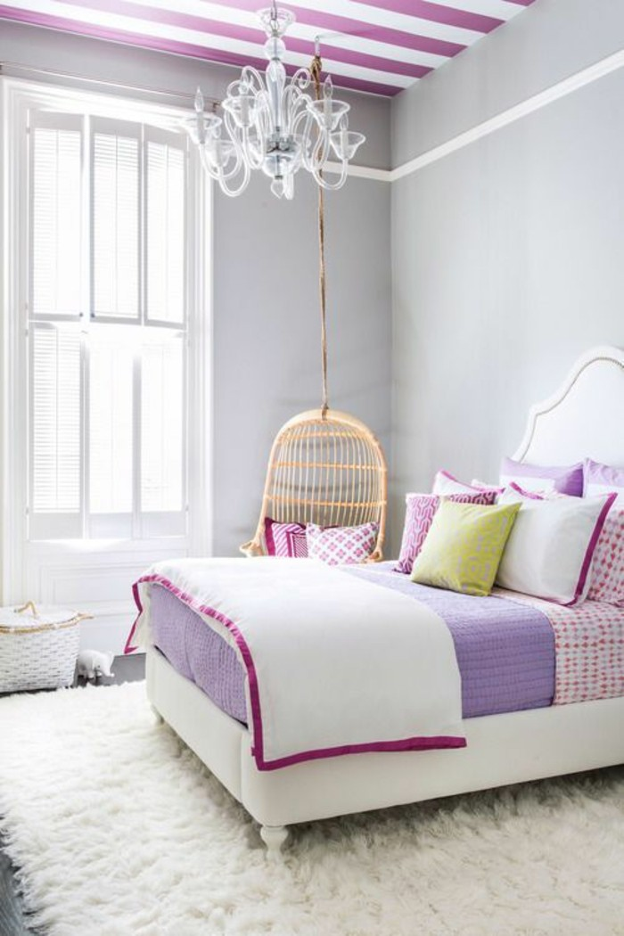 Chambre Ado Fille Blanc - Chambre : Idées de Décoration de Maison ...