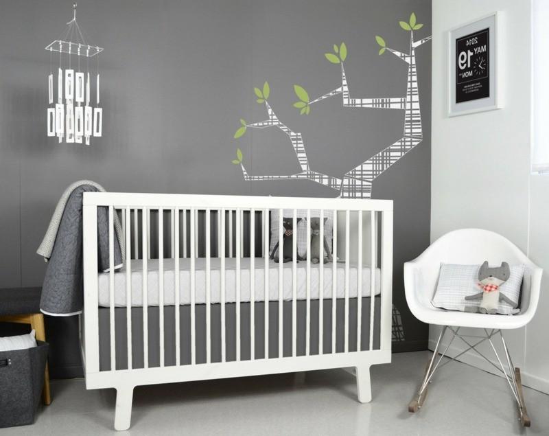 chambre b b blanche et grise chambre id es de. Black Bedroom Furniture Sets. Home Design Ideas