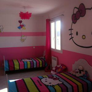 Chambre bebe hello kitty complete chambre id es de - Decoration hello kitty pour chambre bebe ...