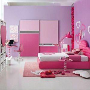 Chambre de fille rose et mauve chambre id es de d coration de maison v9lpo2qno3 for Chambre mauve et rose