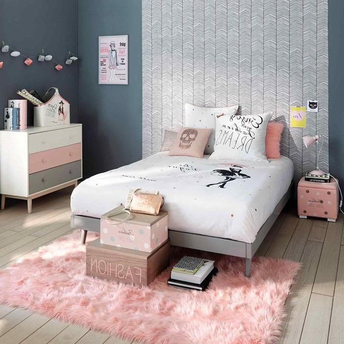 Chambre Fille Blanc Et Rose
